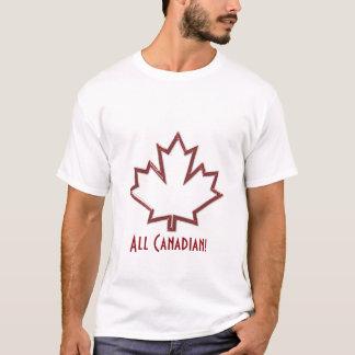 Camiseta O t-shirt dos homens canadenses da folha de bordo