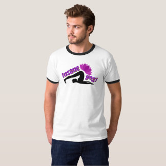 Camiseta O t-shirt dos homens com sinal insano do iogue