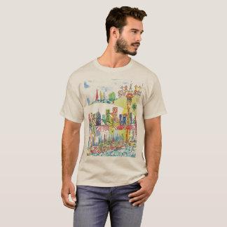 Camiseta O t-shirt dos homens da arquitectura da cidade de