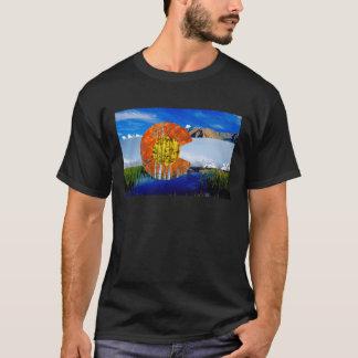 Camiseta O t-shirt dos homens da bandeira de Colorado