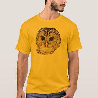 Camiseta O t-shirt dos homens da coruja barrada