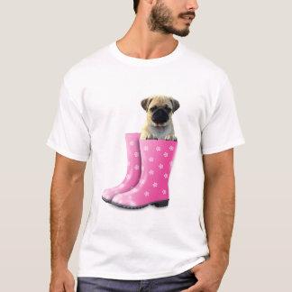 Camiseta O t-shirt dos homens da imagem do cão do Pug