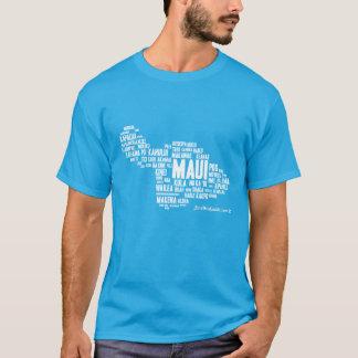 Camiseta O t-shirt dos homens da nuvem da palavra de Maui