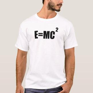 Camiseta O t-shirt dos homens da teoria de E=MC2 Albert