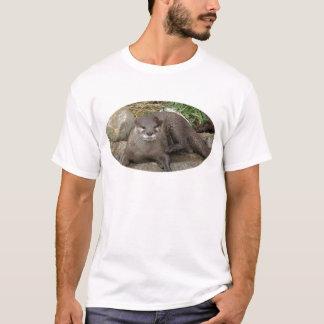 Camiseta O t-shirt dos homens de descanso da lontra