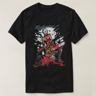 Camiseta O t-shirt dos homens do assassino da serra de