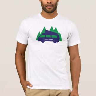 Camiseta O t-shirt dos homens do campista feliz