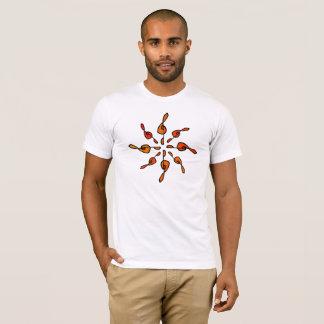 Camiseta O t-shirt dos homens do Clef de triplo do raio de
