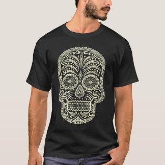 Camiseta O t-shirt dos homens do crânio do açúcar