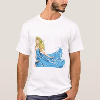 Camiseta O t-shirt dos homens do duende da água da fantasia