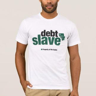 Camiseta O t-shirt dos homens do escravo do débito