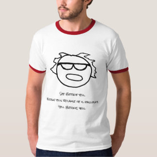 Camiseta O t-shirt dos homens do grito de Bernie do grito