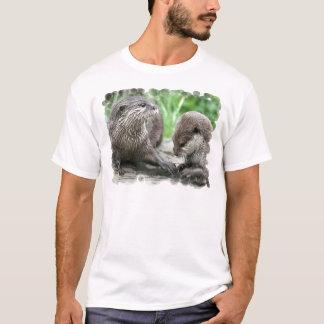 Camiseta O t-shirt dos homens do habitat da lontra