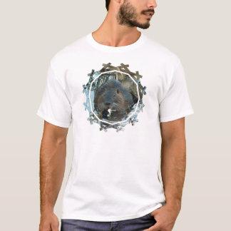Camiseta O t-shirt dos homens do habitat dos castores