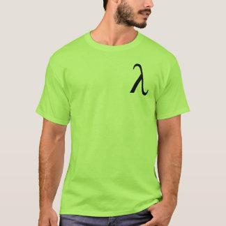 Camiseta O t-shirt dos homens do Lambda (logotipo pequeno)