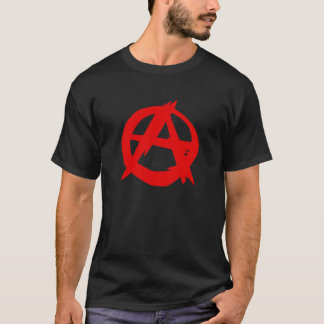 Camiseta O t-shirt dos homens do logotipo do anarquista