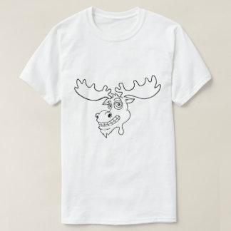 Camiseta O t-shirt dos homens do logotipo dos alces