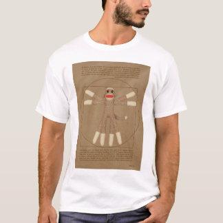 Camiseta O t-shirt dos homens do macaco de Vitruvian