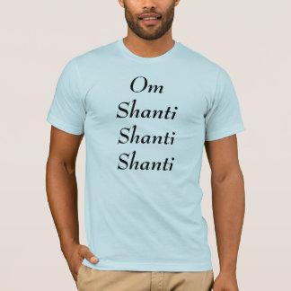 Camiseta O t-shirt dos homens do OM Shanti Shanti Shanti