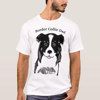 Camiseta O t-shirt dos homens do pai de border collie