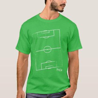 Camiseta O t-shirt dos homens do passo do futebol (verde)