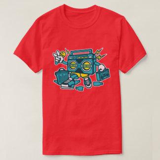 Camiseta O t-shirt dos homens do robô de BoomBox