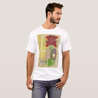 Camiseta O t-shirt dos homens do vaqueiro da garrafa