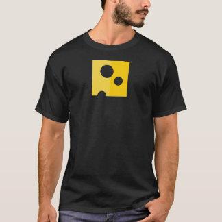 Camiseta O t-shirt dos homens engraçados do queijo suíço