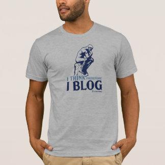 Camiseta O t-shirt dos homens (eu penso, conseqüentemente