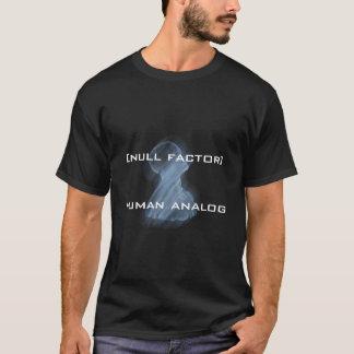 Camiseta o t-shirt dos homens, [fator nulo] analog humano