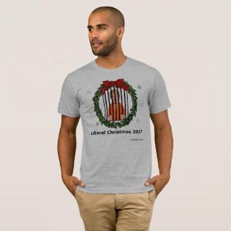 Camiseta O t-shirt dos homens liberais do Natal 2017
