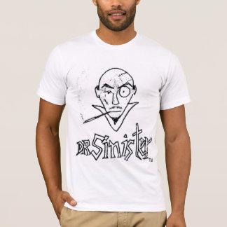 Camiseta O t-shirt dos homens marcados Sinistro do doutor
