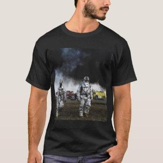 Camiseta O t-shirt dos homens negros do sapador-bombeiro