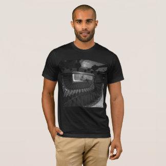 Camiseta O t-shirt dos homens, preto: Escadaria em Hamburgo