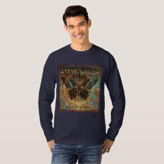 Camiseta O t-shirt dos homens pretos por muito tempo