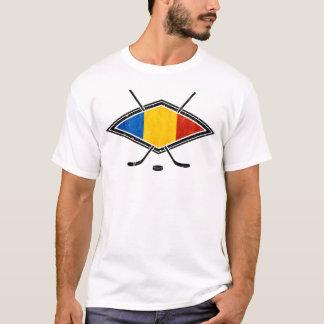 Camiseta O t-shirt dos homens romenos da bandeira do hóquei