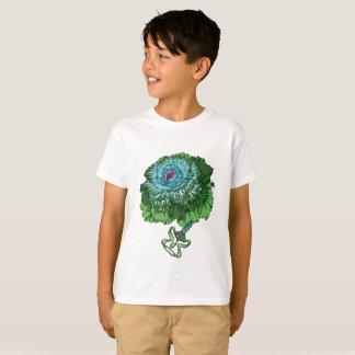 Camiseta O t-shirt dos miúdos de florescência da couve