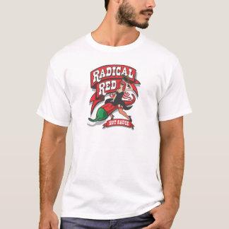 Camiseta O t-shirt encarnado dos homens radicais do molho