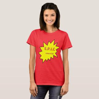 Camiseta O t-shirt ÉPICO das mulheres