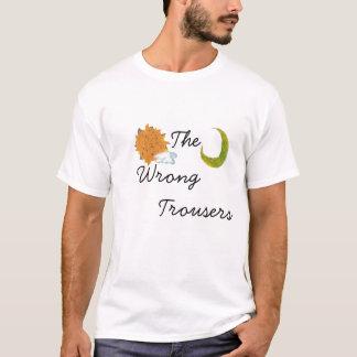 Camiseta O t-shirt errado da calças: Um e contagem