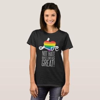 Camiseta O t-shirt escuro básico das mulheres do ódio do