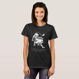 Camiseta O t-shirt escuro básico das mulheres do zodíaco de