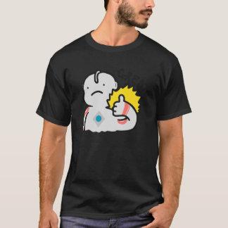 Camiseta O t-shirt escuro básico dos GRANDES homens