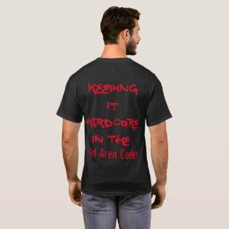 Camiseta O t-shirt escuro básico dos homens customizável