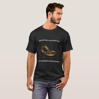 Camiseta O t-shirt escuro básico dos homens da armadilha do