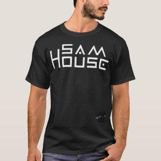 Camiseta O t-shirt escuro básico dos homens da casa de Sam