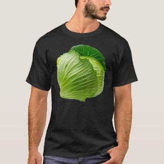 Camiseta O t-shirt escuro básico dos homens da couve