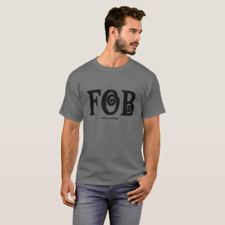 Camiseta O t-shirt escuro básico dos homens da noiva do FOB