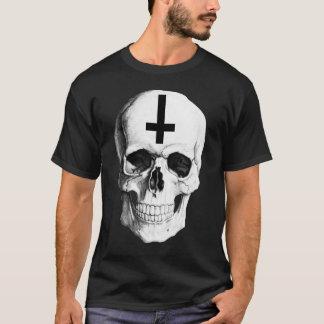 Camiseta O t-shirt escuro básico dos homens do osso do