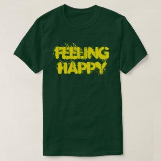 Camiseta O t-shirt escuro básico dos homens felizes de